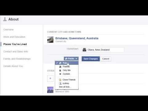 Add location to Facebook profile (PUBLIC)