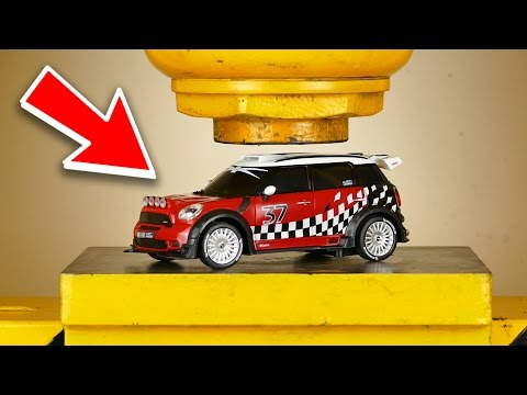 LOOK WHAT HAPPENS WHEN YOU CRUSH RC CAR WITH HYDRAULIC PRESS - THE SMASHER SHOW