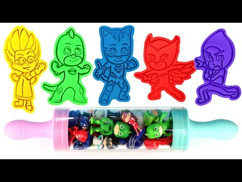 PJ Masks Play Doh Molds Can Heads Cat Boy Owlette Gekko Romeo Night Ninja Luna Girl Toys for Kids