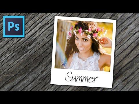 How to Create Polaroid Photo Effect in Photoshop - Basic Photoshop Tutorial