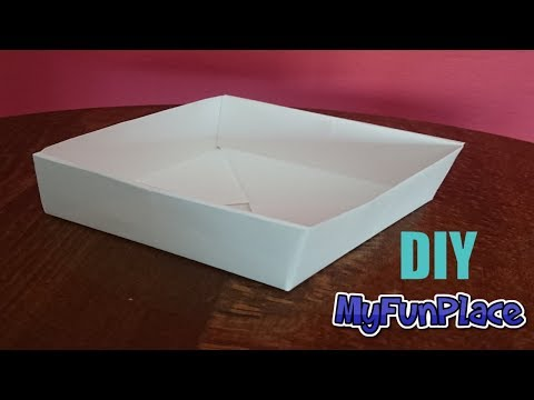 How To Make A Paper Box - Easy - DIY
