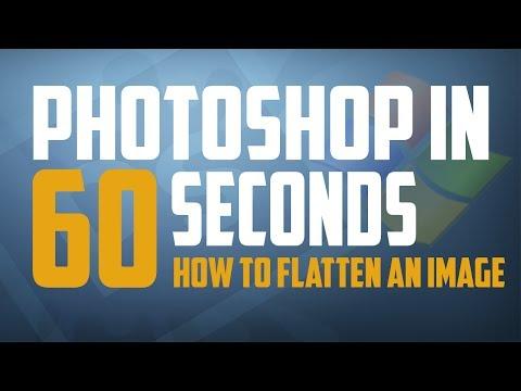 Photoshop CS6 : How To Flatten An Image