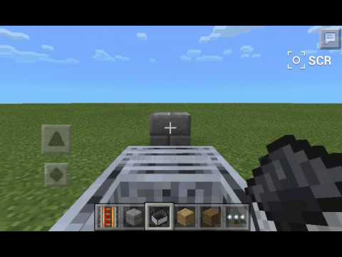 Minecraft PE, Working minecart car without rail
