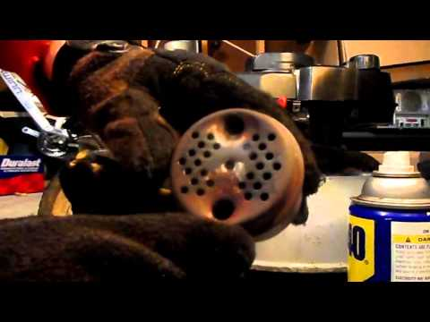 How to remove rust off of lawn mower muffler