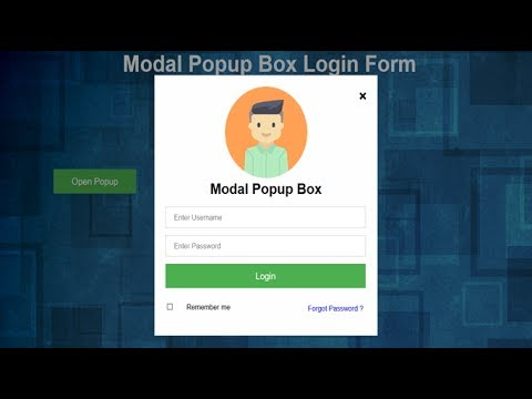 Pop Up Box Login Form, Pop Up Page Html, Popup Signup Form, Modal Login Form, Hover Popup Html
