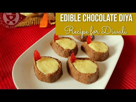 Edible Chocolate Diya Recipe for Diwali