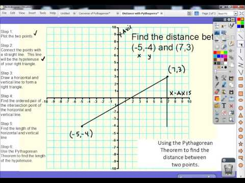 How to Find the Distance Between Two Points Using the Pythagorean Theorem