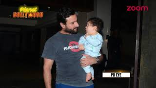 Saif Ali Khan Poses With Taimur Tugged In His Arms | Bollywood News