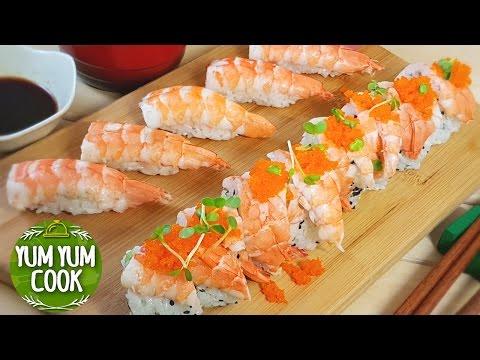 Shrimp Nigiri Sushi Roll | YumYumCook