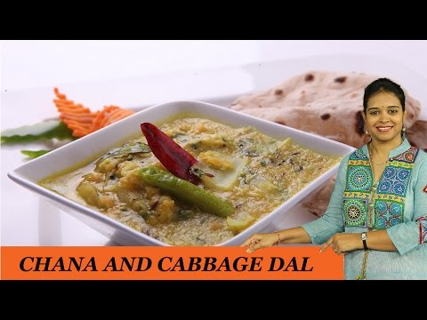 CHANA AND CABBAGE DAL - Mrs Vahchef