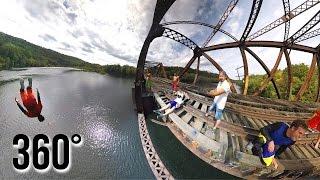 4K 360° BRIDGE JUMPING