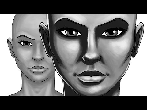 How to use Light and Shadow on faces - Photoshop painting tutorial