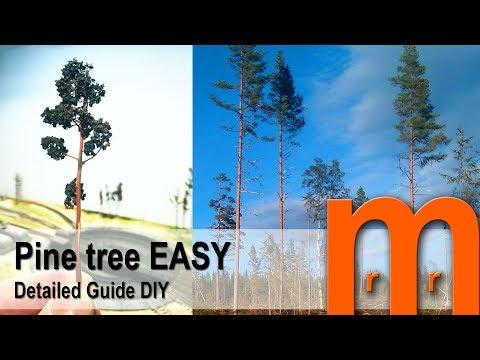 Pine tree in 58 sec EASY - Detailed guide DIY