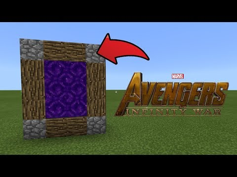How To Make a Portal to the Avengers Infinity War Dimension in MCPE (Minecraft PE)