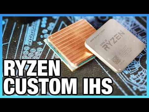 Ryzen Custom Copper IHS Tested