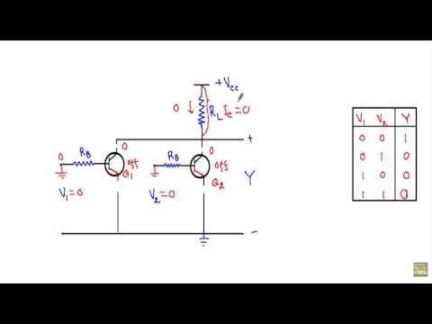 RTL NOR Gate (Resistor Transistor Logic)