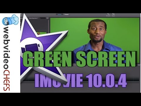 How to  Greenscreen in iMovie 10 (2013)