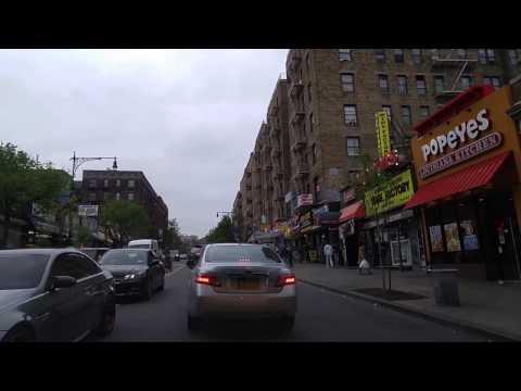 Driving from Marble Hill in Manhattan to Kingsbridge in The Bronx,New York