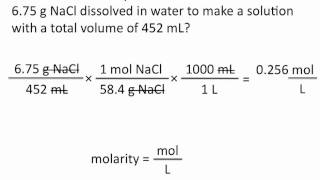 Molarity Chemistry Tutorial