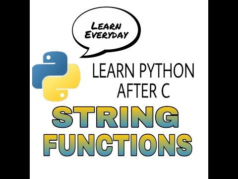 08 String Functions in python