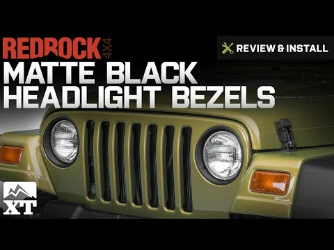 Jeep Wrangler RedRock 4x4 Matte Black Headlight Bezels (1997-2006 TJ) Review & Install