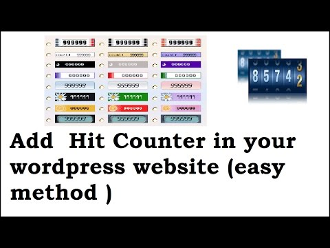How to add website visitor counter to your wordpress website/blog