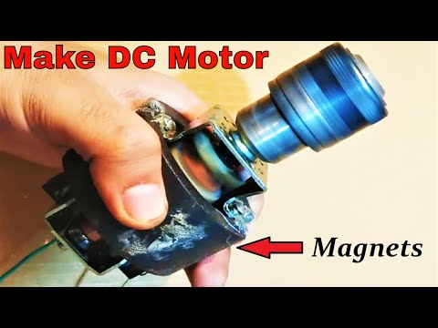 Convert universal motor to magnet dc motor diy