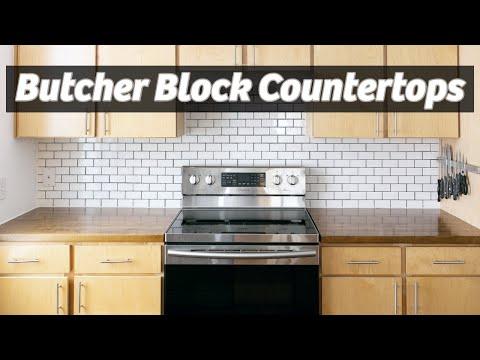 DIY Butcher Block Countertops | IKEA | Maker Gray