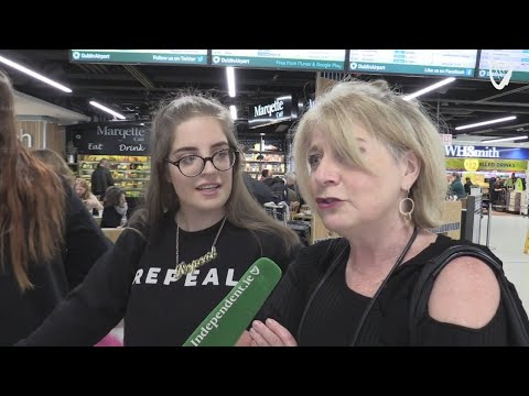 VIDEO: #HomeToVote - crowds arrive in Dublin airport ahead of abortion referendum