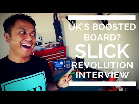 UK'S  BOOSTED BOARD?  - INTERVIEW W/ SLICK REVOLUTION ELECTRIC ⚡ SKATEBOARD COMPANY
