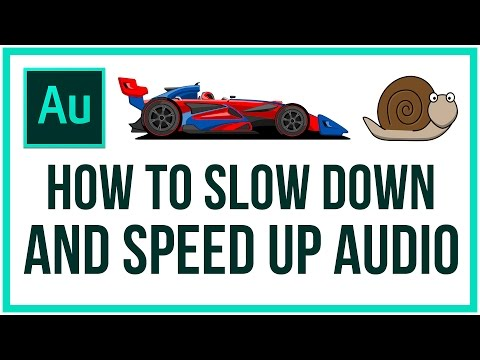 How To SLOW DOWN and SPEED UP Audio In Adobe Audition - Full Tutorial