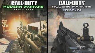 Call of Duty: Modern Warfare (ALPHA) vs Modern Warfare Remastered | Direct Comparison