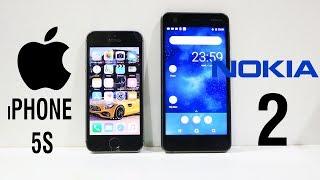 Nokia 2 Vs iPhone 5S Speed Test