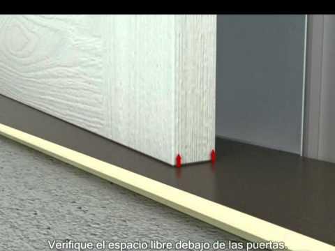 Vídeo de la instalación - pisos laminados con sistema de clic