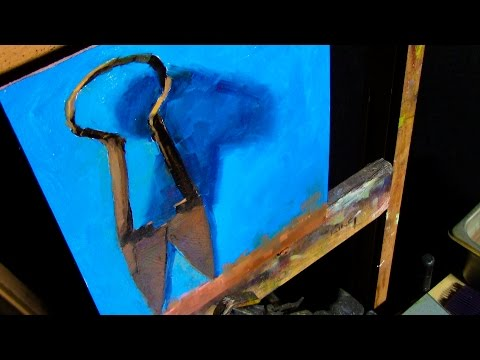 Painting Rusted Metal | Sill Life Oil  Painting of Antique Shears