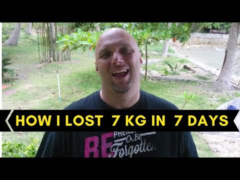 I lost 7 kg in 7 days - Glenn Twiddle