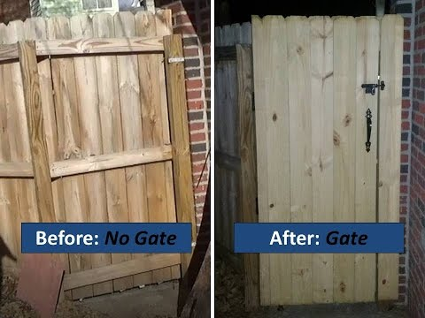 Installing a Gate in an Existing Fence - Complete Novice