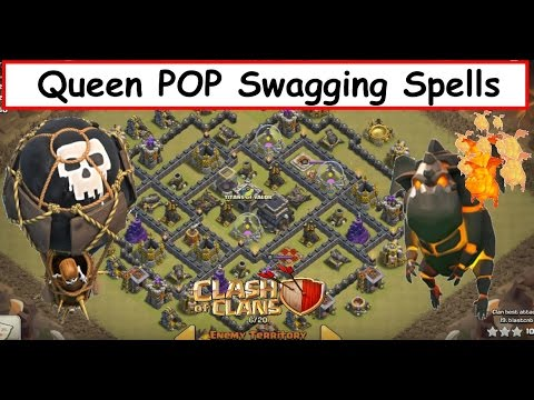 Queen POP LaLoon. Best TH9 Attack. SWAGGIN Spells?!?! Clash of Clans