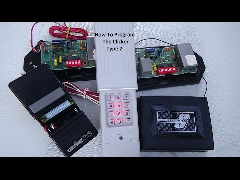 Clicker Keyless Entry Program/Dip Switches-Type 2