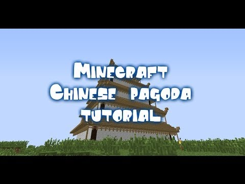 Minecraft Chinese pagoda tutorial [PART 2]