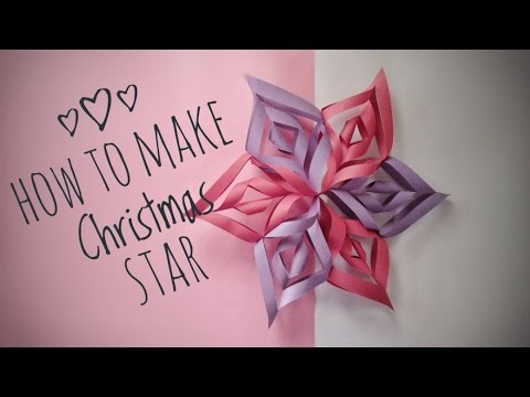 How to Make a 3D Paper Star Xmas Ornament | Handmade