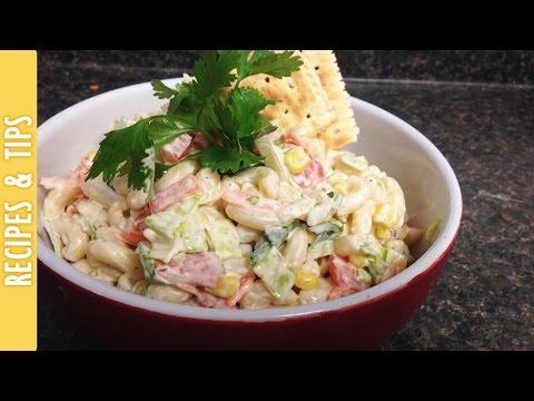 Mexican Macaroni Salad (Ensalada de Coditos) -The290ss