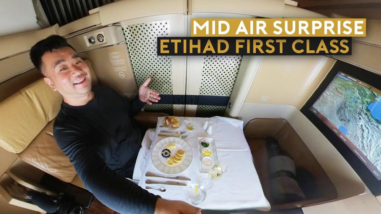 Mid Air Surprise on Etihad First Class B777 Flight