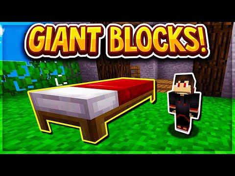 GIANT Block Bedwars Challenge! (Minecraft BEDWARS)