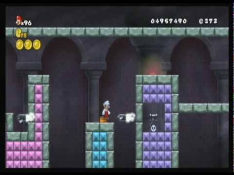 New Super Mario Bros. Wii custom level - Spark Mandrill (Mega Man X)
