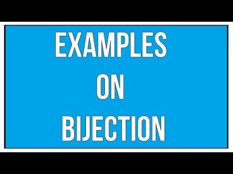 Examples On Bijection / Maths Algebra