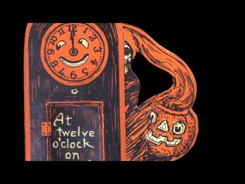 A Vintage Halloween Minute with MBL - 06 Beistle Grandfather's clock invitation