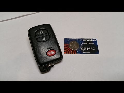 Tool Less Toyota Prius V Key FOB remote battery replacement