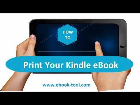 How To Print Kindle Ebooks