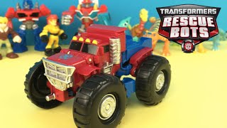 Optimus Prime - Transformers Rescue Bots - a 2 in 1 toy that transforms toys review
